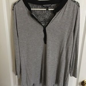 Lace gray shirt